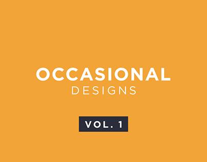 Occasional Designs | Social Media Creatives | Vol. 1