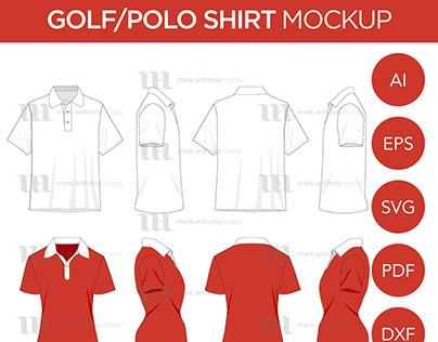 Golf/Polo - Mockup & Template Vector