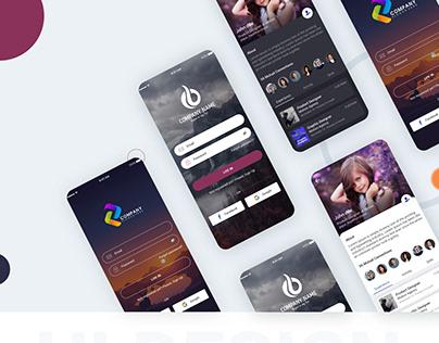 Social Media UI Kit PSD