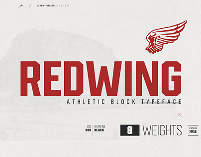 REDWING - FREE ATHLETIC BLOCK TYPEFEACE