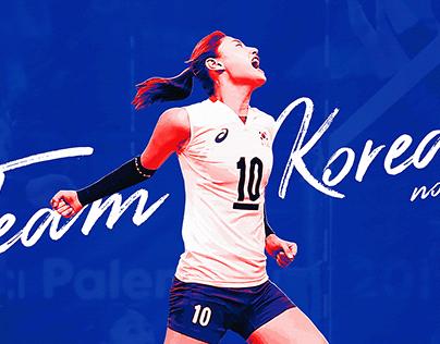 Sport Star Artwork-Kim YeonKoung김연경 in 2018 AsianGames