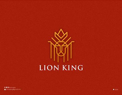 Line Art Lion King Logo