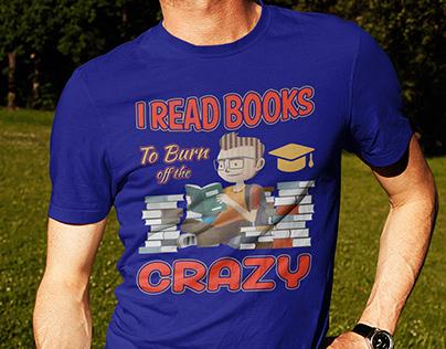 Book T-Shirt Design.