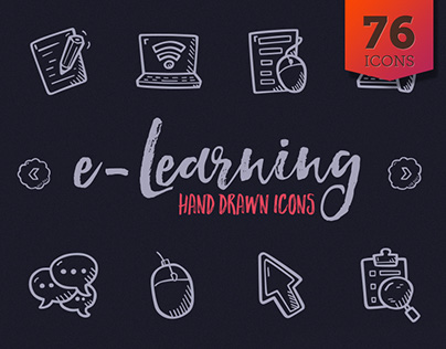 e-Learning Hand Drawn Icons