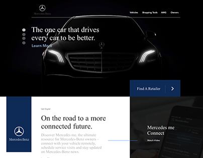 Mercedes Benz Landing Page & Product Page Redesign