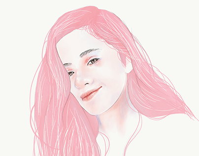 Watercolor-style Digital Portrait