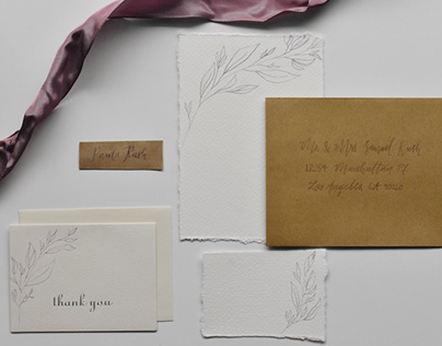 Faded Violet Invitation Suite