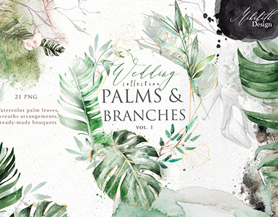 Palm and branches