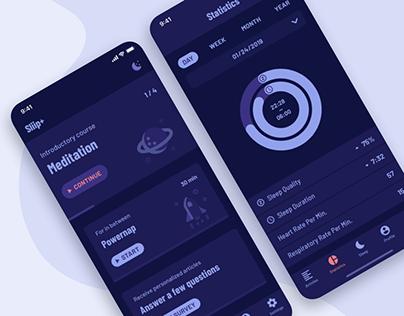 Sliip+ | iOS App & Voice Interface