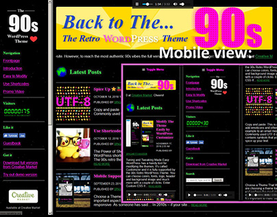 Back to The 90s WordPress Theme