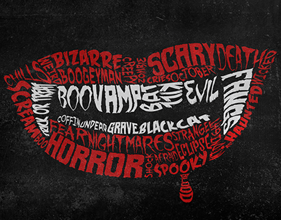 Halloween infographic typography posters