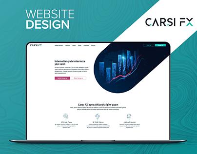 ÇarsıFX Website UX/UI Design