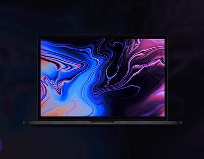 MacBook Pro Space Gray Mockup