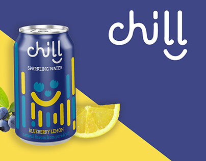 Chill Sparkling Water Identity Packaging