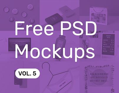 Free PSD Mockups vol. 5