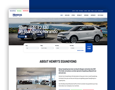 Henry Cars | Landing page