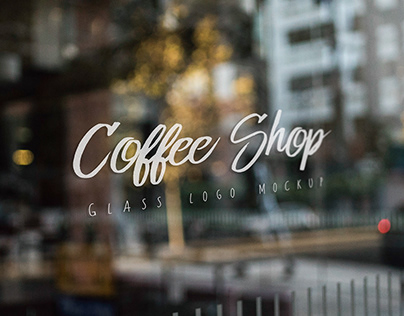 Free Glass Window Shop Sign Mockup