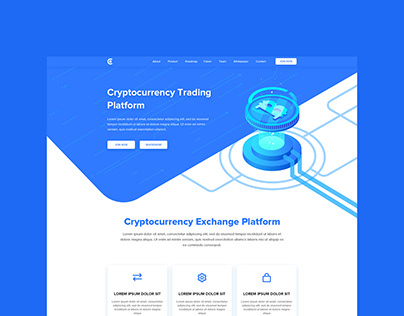 Crytocurrency Landing page