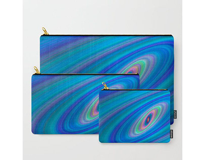 Blue Space Carry-All Pouch