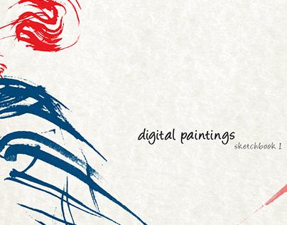 Digital Paintings : Sketchbook 1