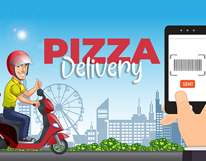 pizza deliver animate