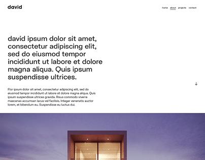 Architecture Website UX Design