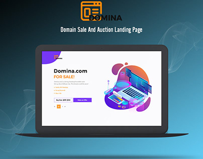 Domain Sale and Auction Landing Page