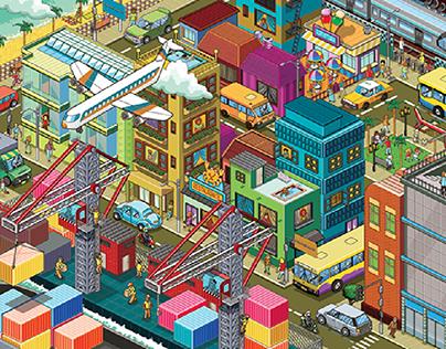 Isometric & Pixel Art Gallery - Varied Themes