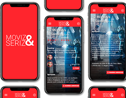 MoviZ&Seriz App Design