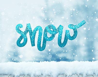 Lettering art - Snow