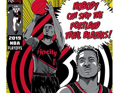 NBA 2019 Playoffs Poster, Portland Trail Blazers