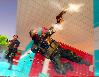 Battlefield UI/UX Design WebDesign shooting Screenshots