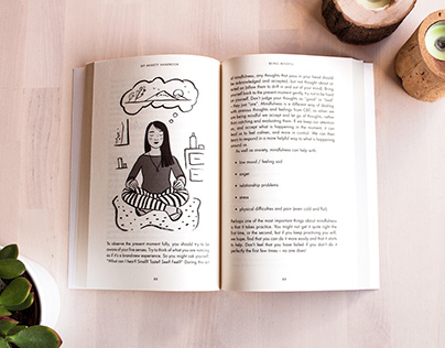 My Anxiety Handbook - Non-fiction book illustration