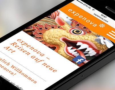 expenova mobile website