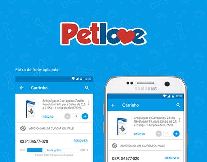 Petlove - Faixa de frete grátis