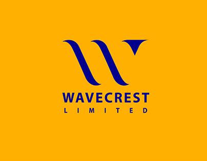 W Letter Wavecrest Logo