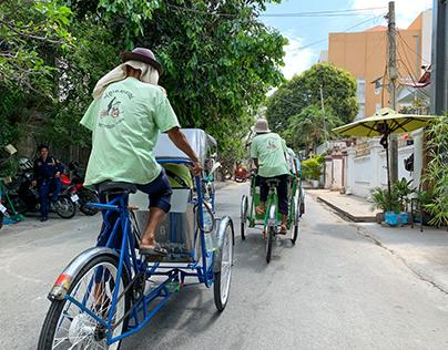 Cyclo Tour, Phnom Penh, Cambodia, March 2019
