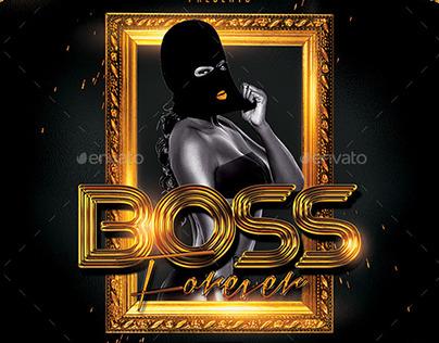 Boss Forever | Mixtape Tape Album Cover Template