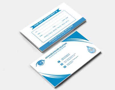 Corporate Eye Care Center Business Card Design.