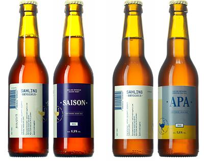 Sahlins Brygghus – Brand identity & beer packaging