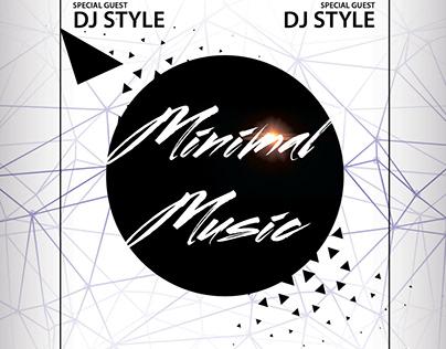 Minimal Music Free PSD Flyer Template