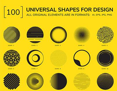 100 Geometric Shapes. Part 4 +Free