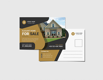 Real Estate Modern Postcard design vol- 5