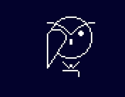Pixel logo owl