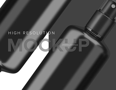 PSD Mock Up Spray bottle cosmetic cream