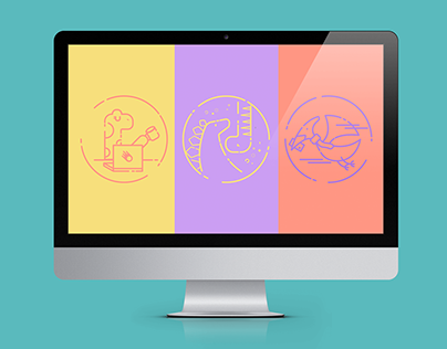 Dinosaurs icons for website