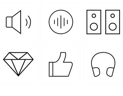 App icon, line icons, UX/UI designer, Graphic designer