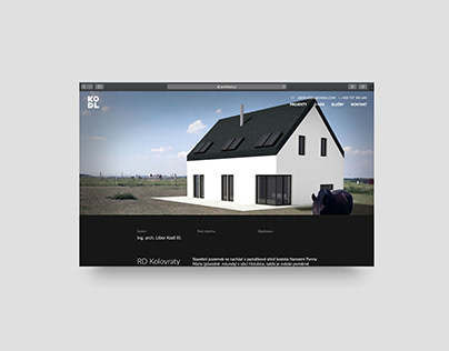 Website for architect studio Archi Kodl