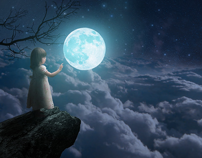 Glowing Moon Photo Manipulation .