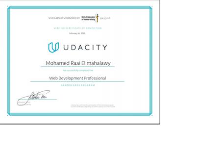 Udacity Web Development Certificate